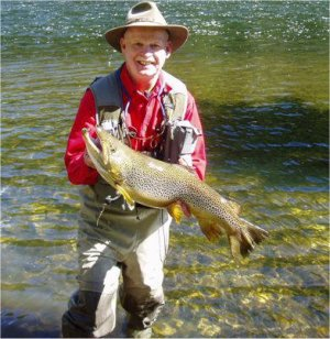 Bob and a 10lb Madison Brown Trout